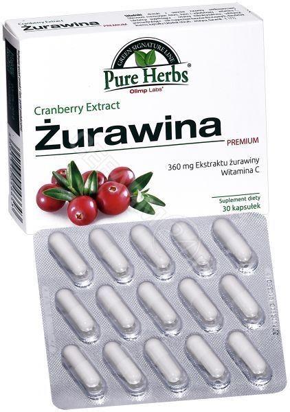 OLIMP ŻURAWINA PREMIUM 30 kaps