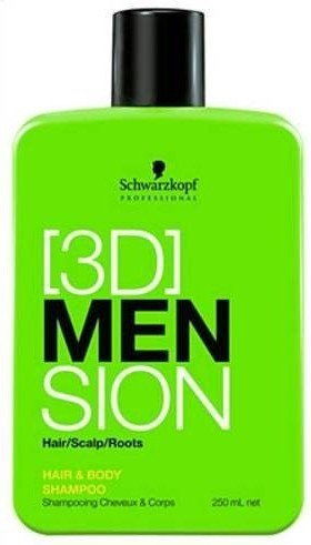 SCHWARZKOPF 3D MEN Szampon do wosów i ciaa 1000 ml