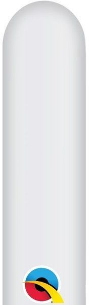 Balony rurki modeliny 10 sztuk białe 260Q-biały