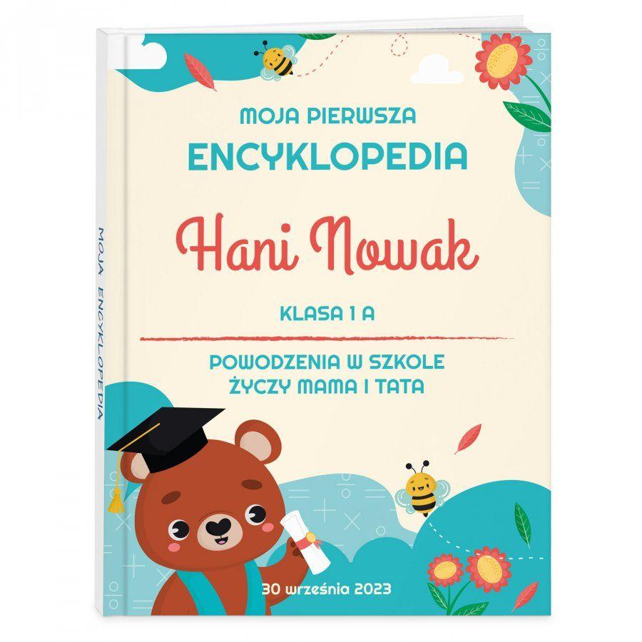 Encyklopedia z nadrukiem dla dziewczynki na rozpoczęcie roku szkolnego