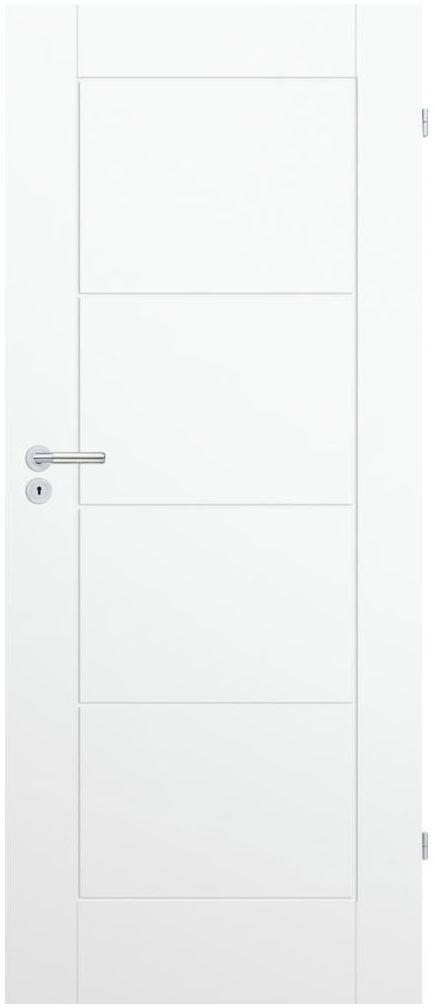 Skrzydło drzwiowe pełne NILO 80 Prawe Białe CLASSEN