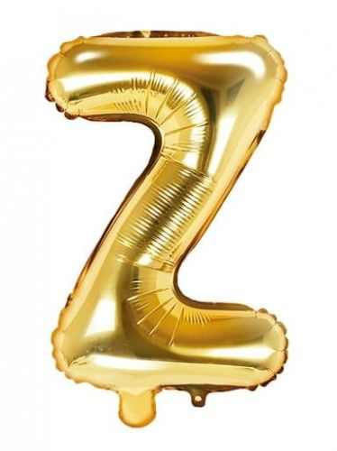 Balon foliowy w kształcie litery Z, złoty