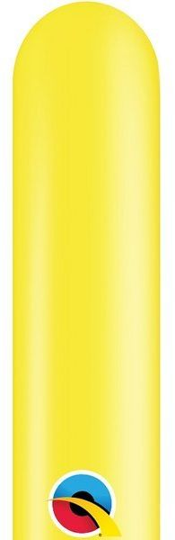 Balony rurki modeliny 10 sztuk żółte 260Q-żółty