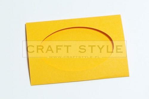 Zestaw bazowy do kart Passepartout Oval 10,5x15cm POMARAŃCZOWY