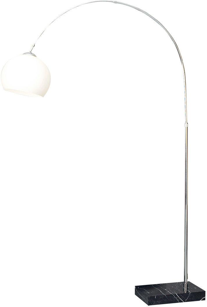 Italux lampa podłogowa Piegano ML4906-1A wędka szkło marmur