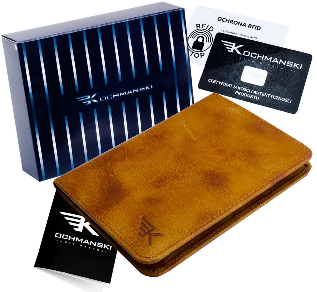 KOCHMANSKI skórzany portfel męski młodzieżowy CIENKI 3089