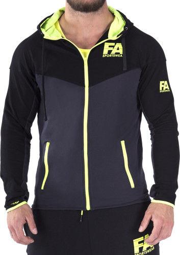 FA Hoodie Jacket 01 Basic DarkGrey NeonFlash S