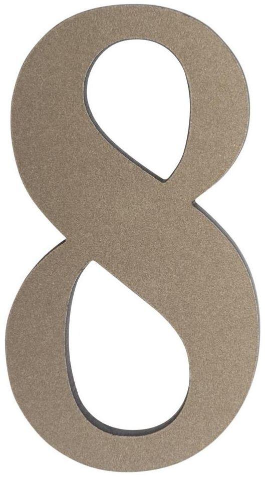 Cyfra 8 wys. 5 cm PVC srebrna