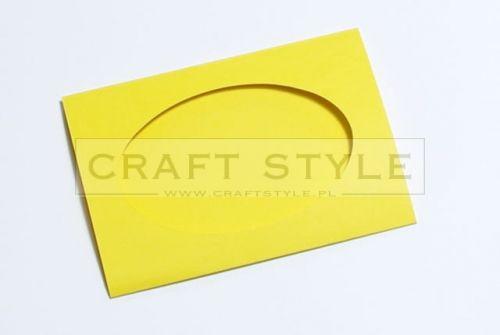 Zestaw bazowy do kart Passepartout Oval 10,5x15cm ŻÓŁTE