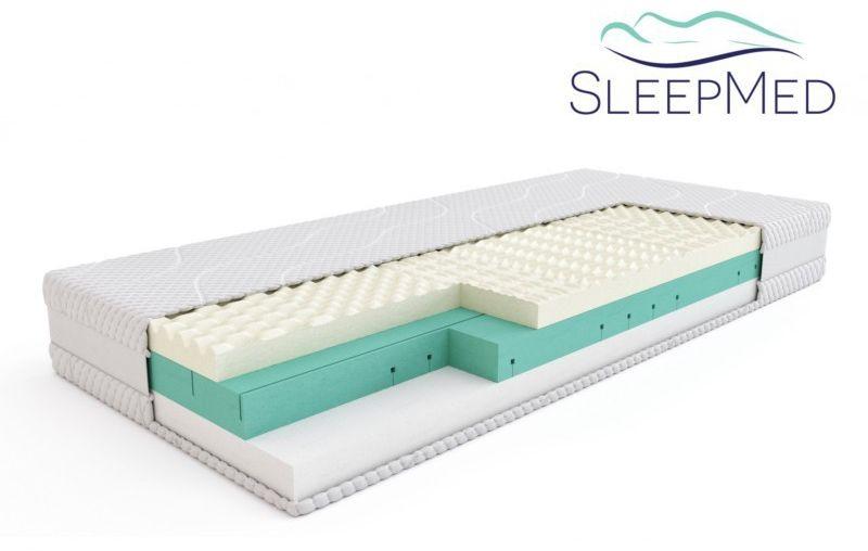 SLEEPMED PREMIUM - materac termoelastyczny, piankowy, Rozmiar - 90x200 NAJLEPSZA CENA, DARMOWA DOSTAWA
