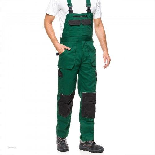 Spodnie ogrodniczki HELIOS AVACORE w kolorze zielono-czarnym