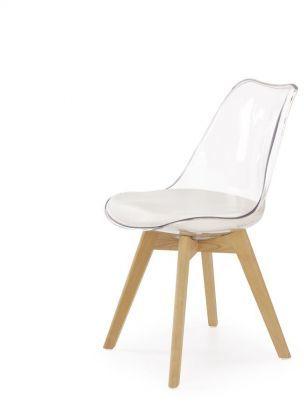 Krzesło K246 białe/transparentne  Kupuj w Sprawdzonych sklepach