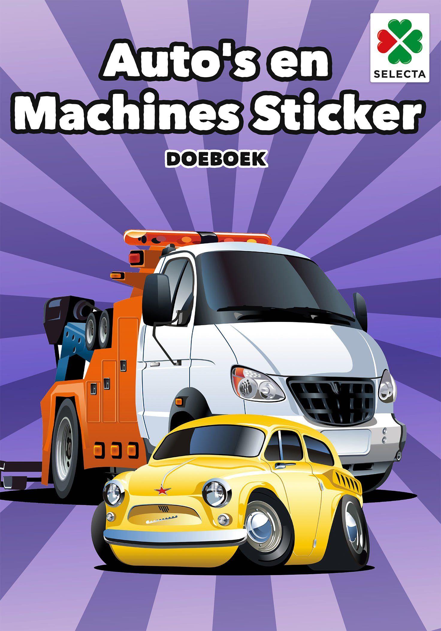 SELECTA SPEL EN HOBBY 54620 Zet je motoren aan Dit is het boek voor wszystkie samochody, de Pagina''s staan vol met activiteiten en kleurplaten. Aantal pagina''s: 32, para