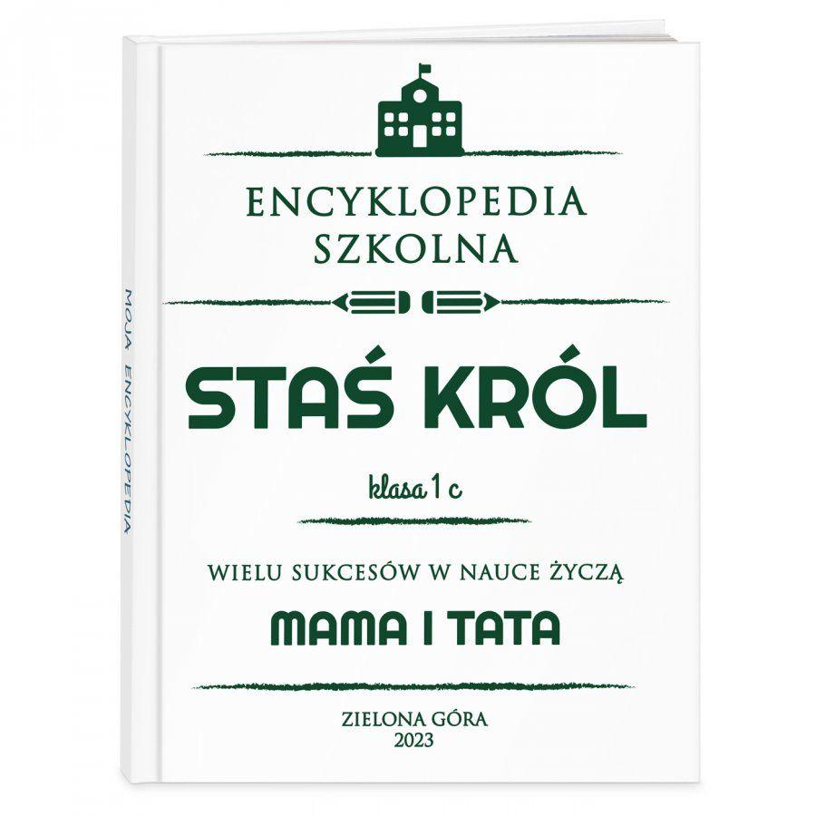 Encyklopedia z nadrukiem dla chłopca na rozpoczęcie roku szkolnego