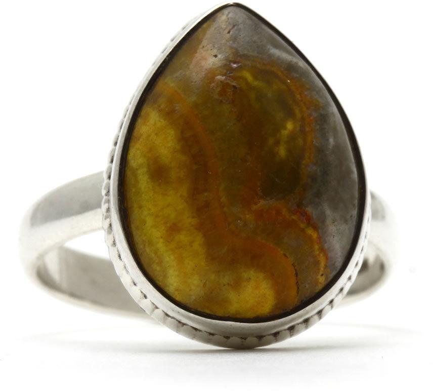 Kuźnia Srebra - Pierścionek srebrny, rozm. 14, Jaspis, 4g, model