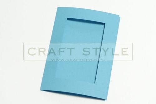 Zestaw bazowy do kart Passepartout Prostokąt 10,5x15cm NIEBIESKIE