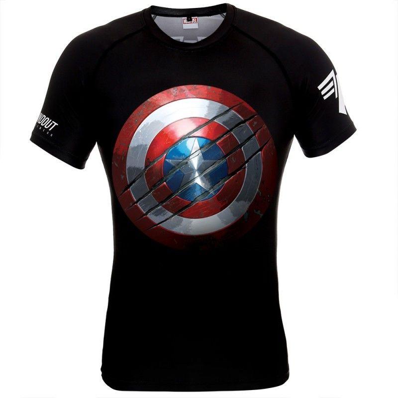 POUNDOUT rashguard Marvel Captain America