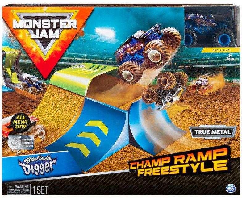 Spin Master - Monster Jam wyczynowe zestawy Freestyle 20103382