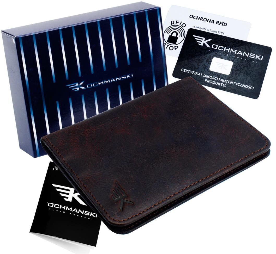 KOCHMANSKI skórzany portfel męski młodzieżowy CIENKI 3092
