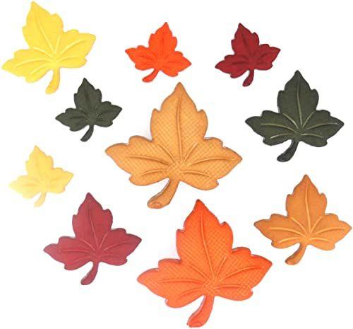 Dress It Up Guziki Autumn Leaves krótkie towary, tworzywo sztuczne, kolorowe, 10 x 7,5 x 2 cm, 8 sztuk