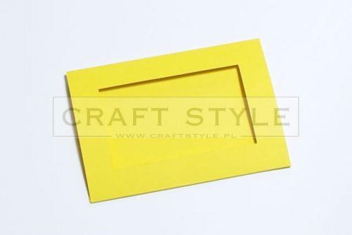 Zestaw bazowy do kart Passepartout Prostokąt 10,5x15cm ŻÓŁTY