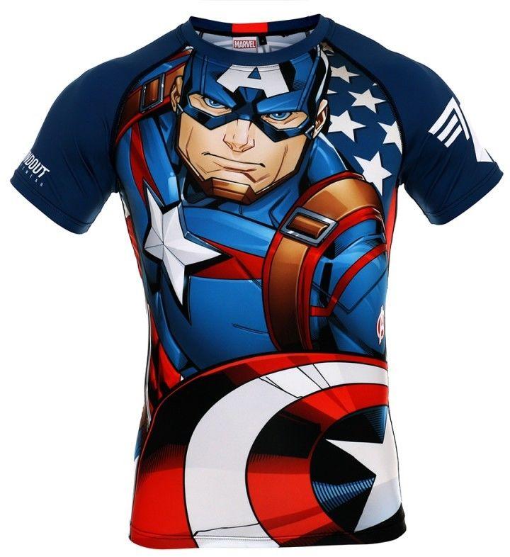 POUNDOUT rashguard Marvel Captain America 2.0