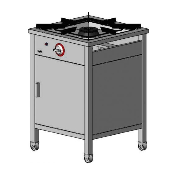 Kuchnia gazowa 1-palnikowa z szafką EGAZ TG 105.IV