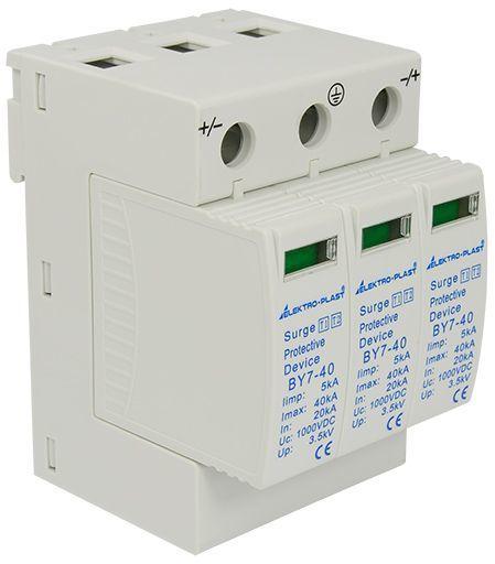 Ogranicznik przepięć PV 3P (T1+T2 DC) BY7-40 1000V DC