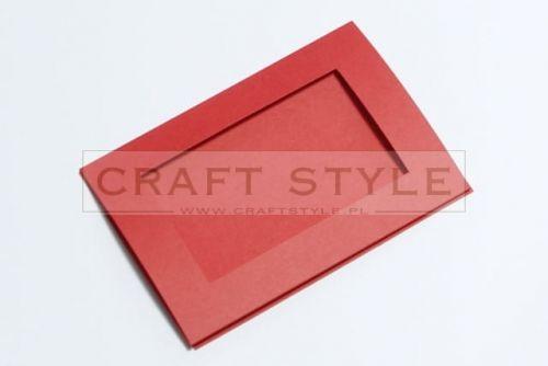 Zestaw bazowy do kart Passepartout Prostokąt 10,5x15cm CZERWONY