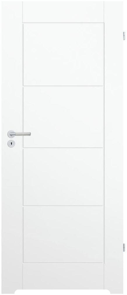 Skrzydło drzwiowe z podcięciem wentylacyjnym NILO 70 Prawe Białe CLASSEN