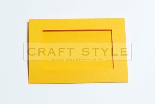 Zestaw bazowy do kart Passepartout Prostokąt 10,5x15cm POMARAŃCZOWY