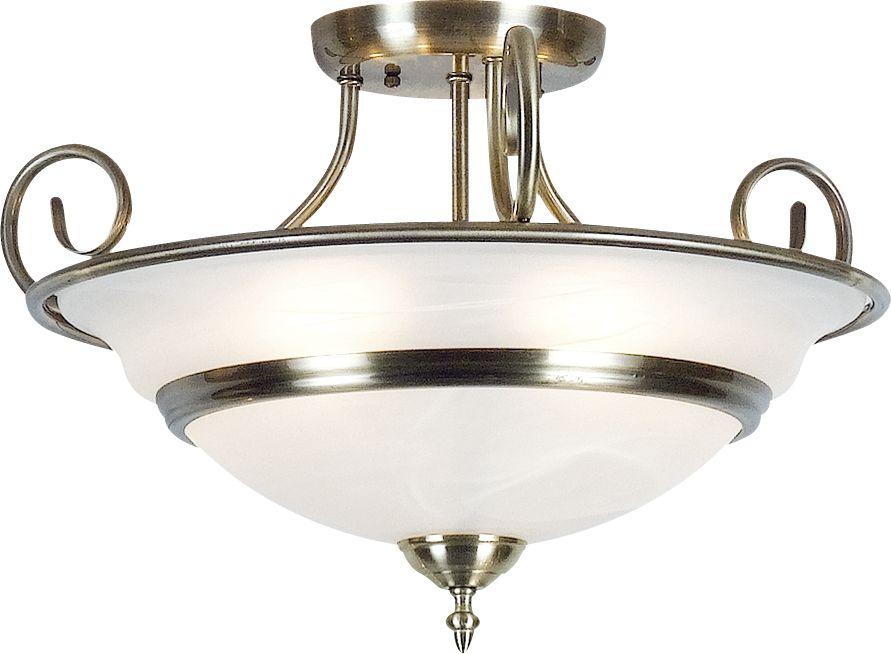 Globo TOLEDO 6896-5 plafon lampa sufitowa antyczny mosiądz 5xE14 40W 50cm