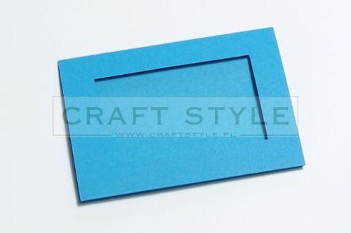 Zestaw bazowy do kart Passepartout Prostokąt 10,5x15cm TURKUSOWY