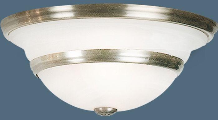 Globo plafon lampa sufitowa Toledo 6895-2 patyna szklany biały klosz 34cm