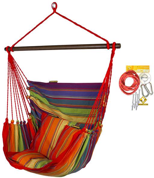 Fotel hamakowy HC10 z zestawem montażowym, Colorful zhc10-298-koala/fix/ch1