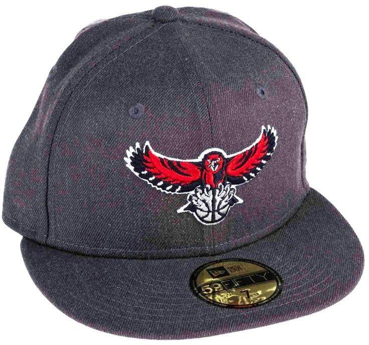 czapka z daszkiem NEW ERA - 5950 Nba Heather Fitted Atlhaw (BLK) 7