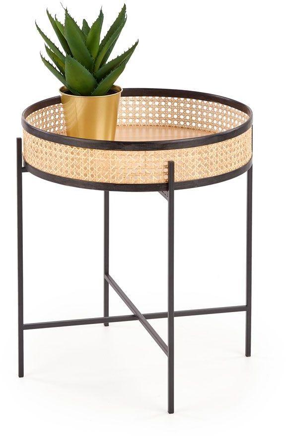Okrągły rattanowy stolik kawowy Tahiti