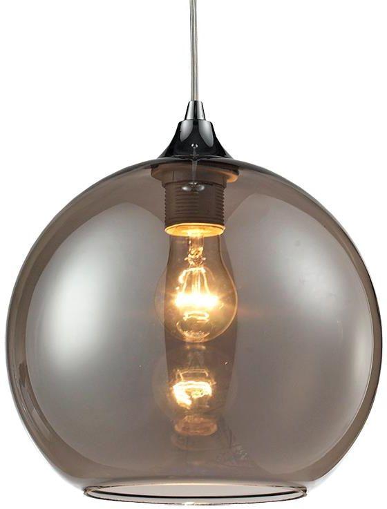 Lampex Bolla C 305/C lampa wisząca chrom metal klosz szkło przyciemniane E27 1x60w 25cm