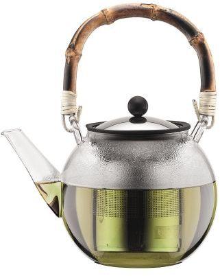 Bodum ASSAM Zaparzacz do Herbaty, Ziół 1 l z Bambudowym Uchwytem