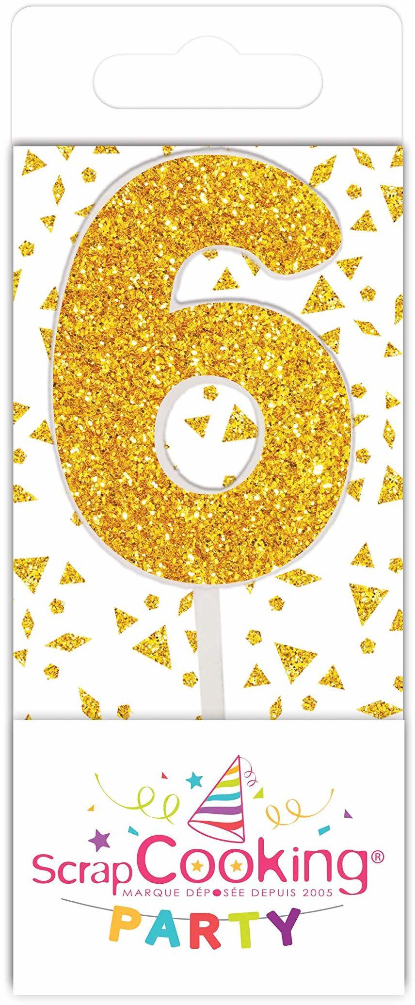 Scrapcooking 0596 mini świeca, kolor złoty, 6 sztuk