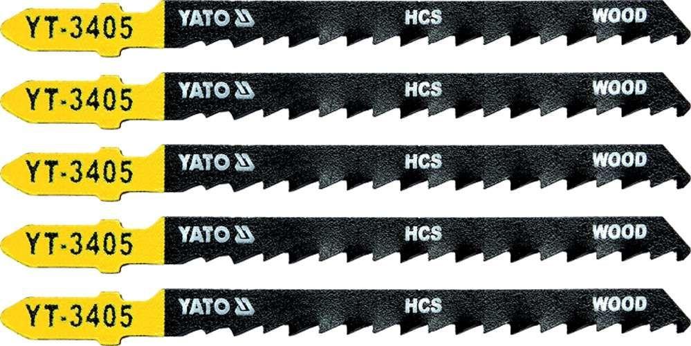 Brzeszczot do wyrzynarki typ t, 6 tpi, do drewna, 5 szt Yato YT-3405 - ZYSKAJ RABAT 30 ZŁ