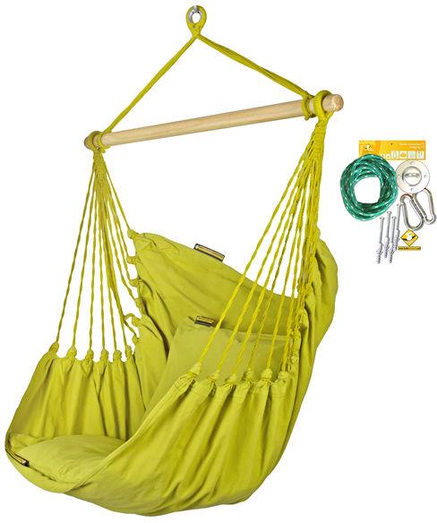 Fotel hamakowy HC10 z zestawem montażowym, Parakeet Green zhc10-303-koala/fix/ch1