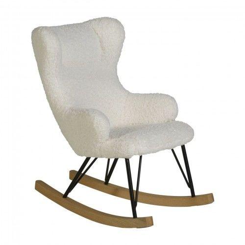 Fotel bujany QUAX dla dzieci De Luxe baranek ecru
