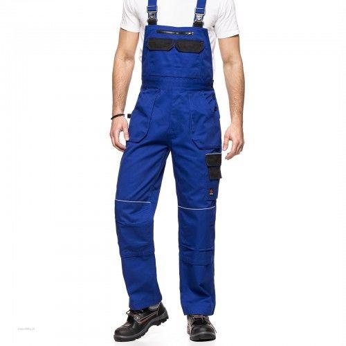 Spodnie ogrodniczki HELIOS AVACORE w kolorze niebiesko-czarnym