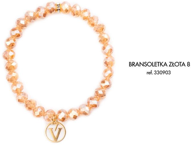 Bransoletka z Logo Victoria Vynn - szampańskie złoto 8