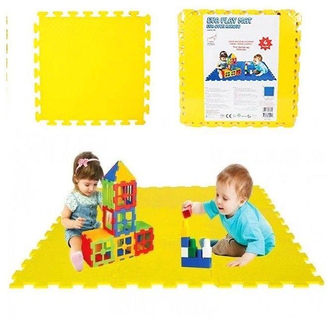 WOOPIE Piankowa Mata Edukacyjna Eva Żółta 50 x 50