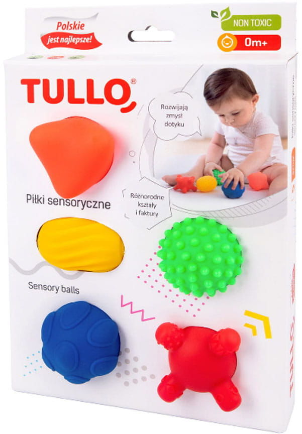 Piłki sensoryczne piłeczki 5szt zestaw
