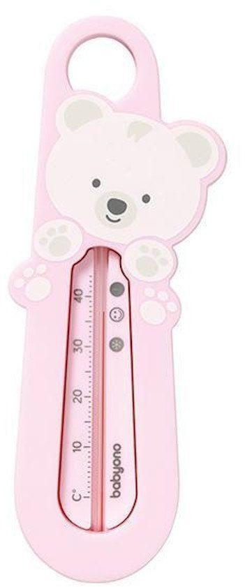 Termometr do wody różowy Babyono