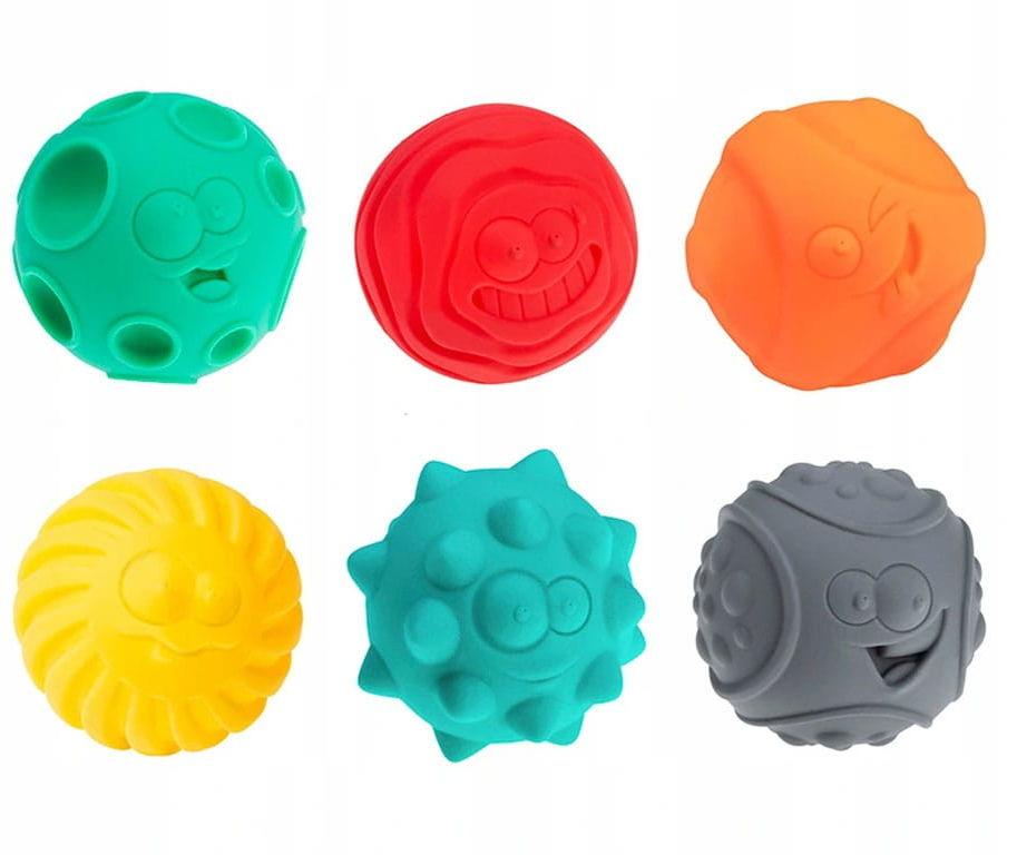 Piłki sensoryczne piłeczki 6 szt zestaw