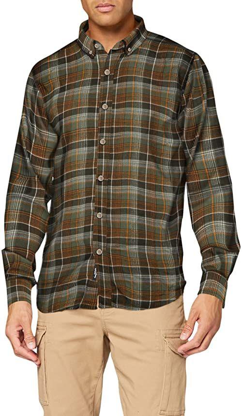 Marmot Męska koszulka z długim rękawem Harkins Lt Wt Flannel z długim rękawem, Crocodile, S